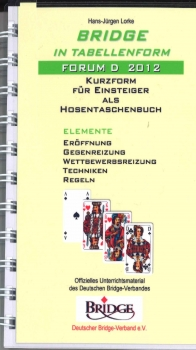 Bridge in Tabellenform Hosentaschenbuch