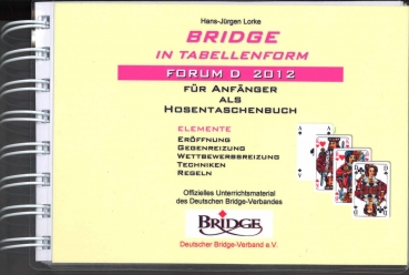 Bridge in Tabellenform Hosentaschenformat